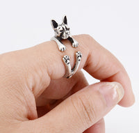 Boston Terrier Resizable Ring in 3 Styles