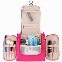 3-Zipper Hanging Travel Toiletry or Makeup Bag