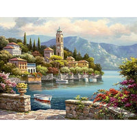 Romantic Harbor: You're The Artist! Painting By Numbers Kit With Acrylic Paint Brushes And Quality Canvas
