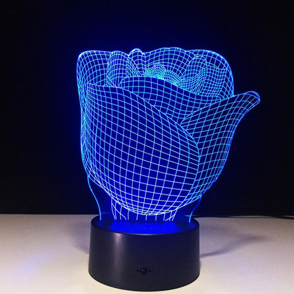 Rose 3D Illusion Light with Remote Control - JT Home & Away