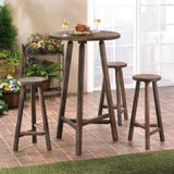 Rustic Wood Bar Table and Stools Set - JT Home & Away