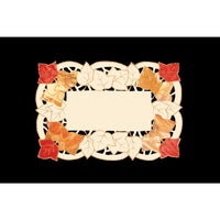 Set Of 4 Autumn Elegance Decorative Embroidered Fall Leaf Table Placemats 14 X 20 No Update