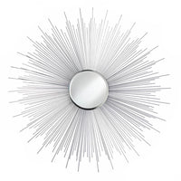 Silver Rays Hanging Wall Mirror