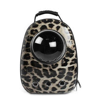 Space Bubble Pet Carrier Backpack Unique New Patterns Leopard Print Pattern