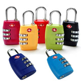TSA Resettable Combination Travel Suitcase Lock, 6 Color Options - JT Home & Away