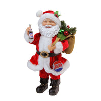"12"" Santa Claus Holding Pepsi-Cola Bottle and Cap Christmas Figure"