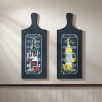 Wine Bottle Wall Art Duo