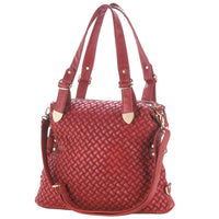 Woven Body Red or Black Shoulder Bag by Breezy Couture - JT Home & Away