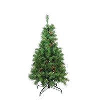 "4' x 30"" Pre-Lit Dakota Red Pine Full Artificial Christmas Tree - Clear Lights"