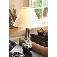 Zebra Striped Lamp