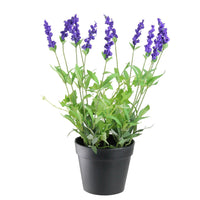 "18"" Potted Artificial Flowering Lavender Plant"