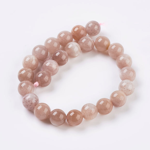 Sunstone - natural - 6mm Round - Sold per Strand - Approx. 32 Beads - 8