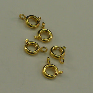 Spring Ring Gold Plated - Package of 5