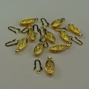Filigree Clasp - 13mm x 7mm - Gold Plated - Sold Individually
