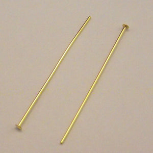 "Head Pin 1.5"" Gold Plated - 21 Gauge - Sold Individually"