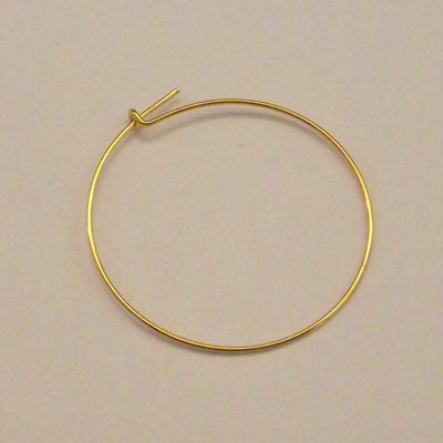 Earring Hoop 25 mm Gold Plated - Package of 2