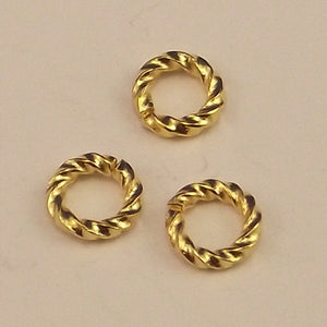 Gold Plated Fancy Open Jump Ring 6 mm - Sold Individually