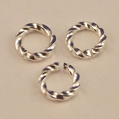 Silver Plated Fancy Open Jump Ring 6 mm - Sold Individually