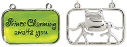 Meanings Accents Prince Charming Awaits You - Green - 35x22mm 2/Pkg