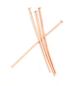 "Head Pins 1""/25 mm (.020) 24 Gauge Copper Nickel Free - Sold Individually"