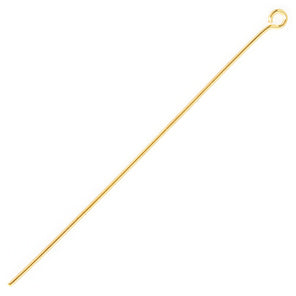 Eye Pin - 1.6 inch - 21 Gauge - Gold Nickel Free - Sold Individually