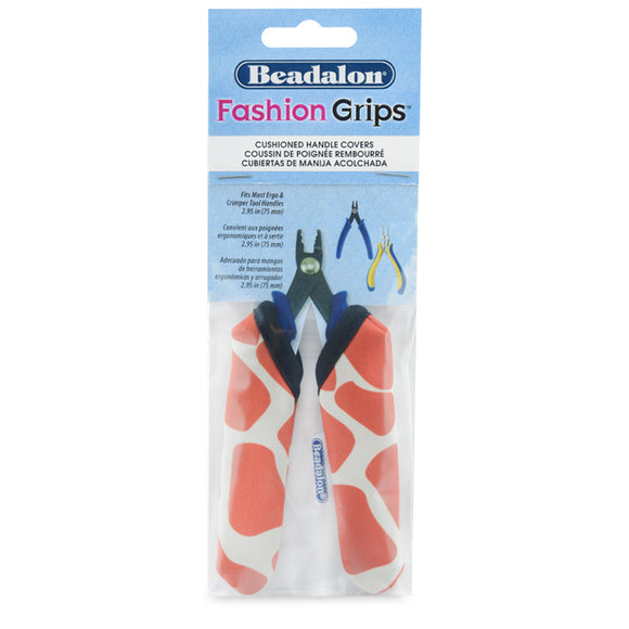 Fashion Grips Tool Covers, Giraffe Pattern, Fits Most Ergo & Crimper Tool Handles appx. 75 mm (2.95 in) long, 1 pair