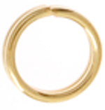 Gold Plated Split Ring 5mm - Sold Individually