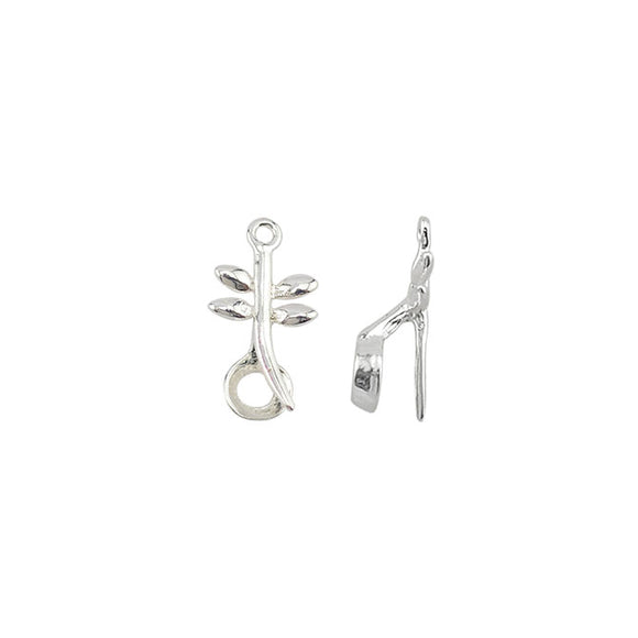 Stonesett, Tension Mount, Drop Dragon Fly, Loop, Silver Plated, Fits 5.0-8.0mm stones, 3 pc