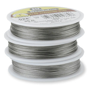 "Beadalon 19 Strand Wire - Bright - .018"" - 30ft"