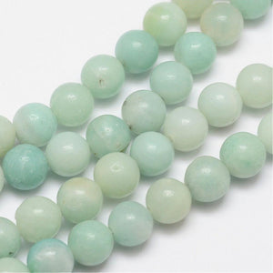 Amazonite - natural - 8 mm Round Per Strand - Approx 48 Beads