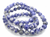 Denim Lapis - Natural - 8 mm Round - Per Strand Approx. 48 Beads