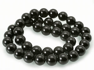 Black Onyx - natural - 6 mm Round Beads - Per Strand Approx. 64 Beads