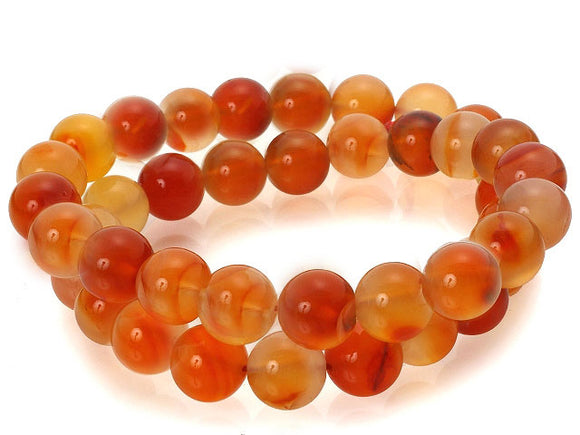 Carnelian - natural - 8 mm Round - Per Strand Approx 48 Beads