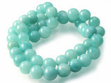 Amazonite - dyed - 8 mm Round - Sold Per Strand Approx 48 Beads