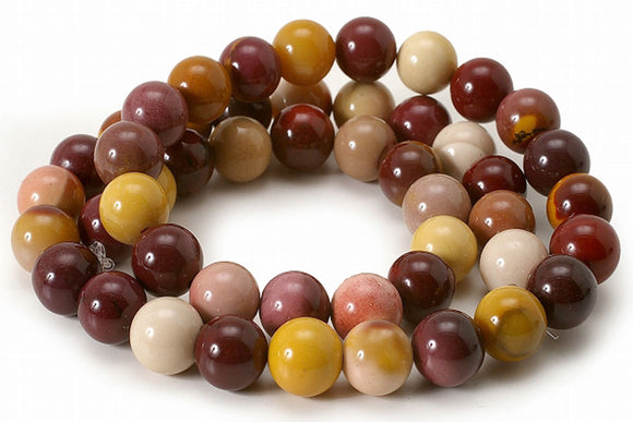 Mooakite Jasper - natural - 8 mm Round - Sold per Strand Approx 48 Beads