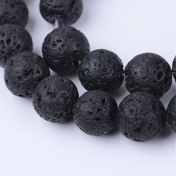 Lava - natural - 10 mm Round Sold Per Strand Approx 40 Beads
