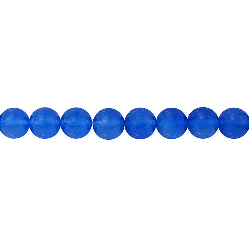 Blue Agate - natural - 6 mm Round Beads - Sold Per Strand - Approx 64 Beads