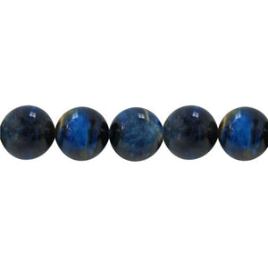Blue Tiger's Eye - Dyed - 8 mm Round - Sold per Strand Approx 48 Beads