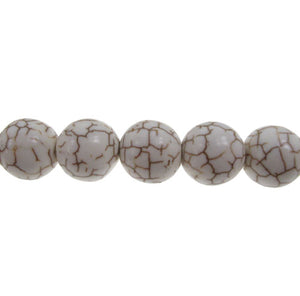 Cream Howlite - natural - 8 mm Round 15.5 Inch Strand