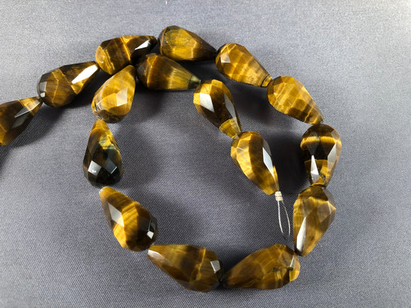 Grade A Tiger Eye 20 mm x 10mm Teardrop - Sold Individually