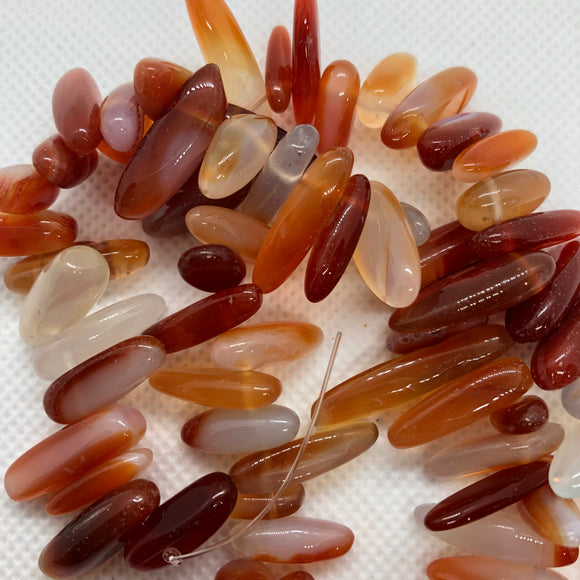 Carnelian - natural - 18-20 mm Briolette Beads - Per Strand