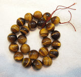 Tiger Eye - natural - 6 mm Round - Per Strand Approx 64 Beads
