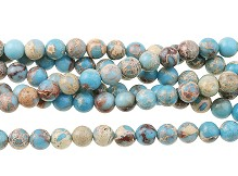 "Blue Impression Jasper - Dyed - 8 mm Round - 16"" Strand"