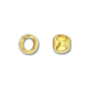 Beadalon Gold Plated Crimp Bead - Size 2 - Sold Individually