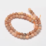 Sunstone - natural - 10mm Round - Sold per Strand - Approx. 40 Beads