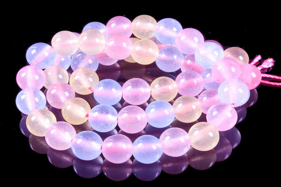Mix Ice Jade - Dyed - 6 mm Round - Sold Per Strand - Approx 64 Beads