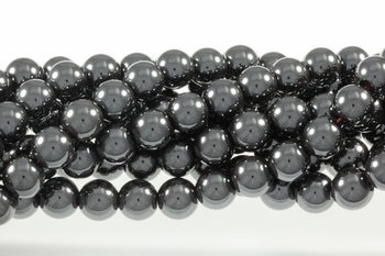 Hematite 8 mm Round - Sold Per Strand Approx 48 Beads
