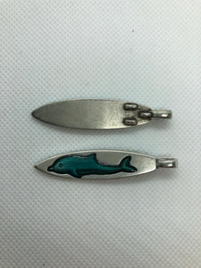Dolphin pendant or zipper pull