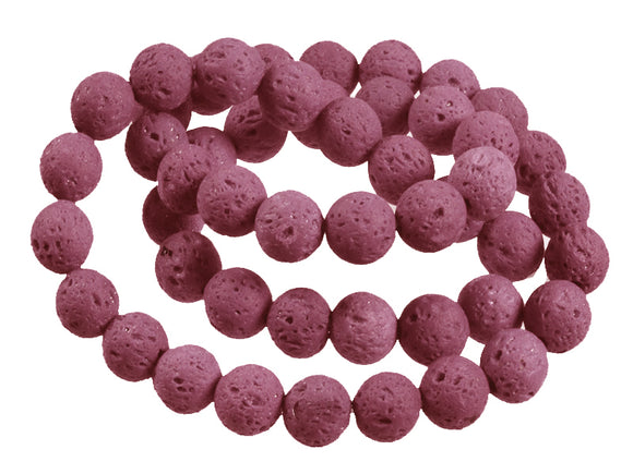 Purple Lava - dyed - 8 mm Round - Sold Per Strand - Approx. 47 Beads