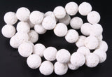 White Lava - natural - 6 mm Round - Per Strand Approx 64 Beads